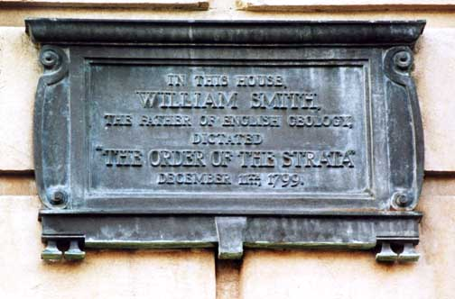 Bronze plaque attached to the wall of No. 29 Great Pulteney Street, the Bath residence in 1799 of Joseph Townsend. Photograph courtesy J.T. Greensmith.