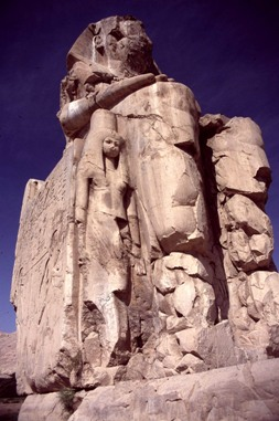 Fig. 6: One of the Colossi of Memnon Photo Ted Nield