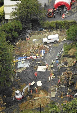 Scene of the tragedy in Stroud, Gloucs.