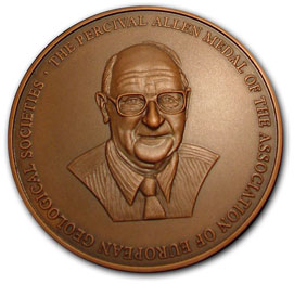 The Percival Allen Medal of the Association of European Geological Societies