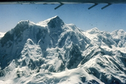 NP from the air - the old flight from Rawalpindi to Skardu. The flight circumnavigated the poeak. Photo - Mike Searle