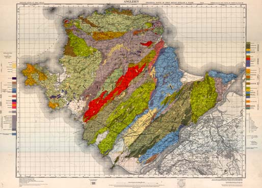 The 1920 1:63,360 map of Anglesey republished as a solid edition in 1967. Reproduced with the permission of the British Geological Survey © NERC. All rights reserved.
