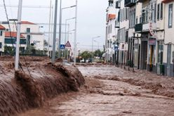 Flooding in the city of Funchal on February 20, 2010.