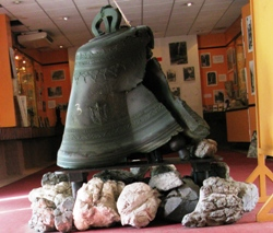 Musée Volcanologique Franck Perret contains the cathedral bell, melted like chocolate