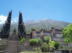 Temple on Merapi. Would the 1963 disaster of Agung be repeated here?