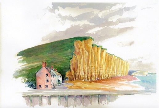 West Bay, from the Hardy & the Jurassic Coast booklet by Tolfree and Welshman.