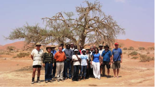 IUGS-GEM team at Sossusvlei, Namibia (photo curtsey of Prof.Dr. HE Qingcheng)
