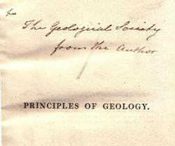 Inscribed copy of the Principles in the Society's collection