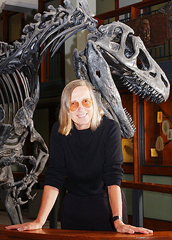 Prof. Gerta Keller and friend