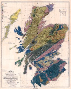 The first geological map of Scotland by John Maculloch