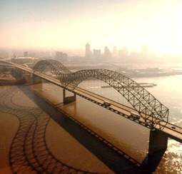 Memphis and the mighty Mississippi - in the hear heart of the New Madrid zone.