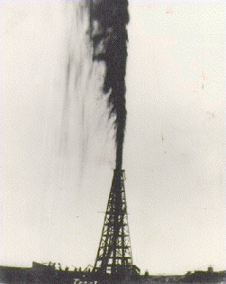 We don't do this any more (a gusher, at Spindletop)