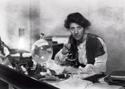 Dr Marie Stopes in her laboratory, 1904. Photo Courtesy, Marie Stopes International