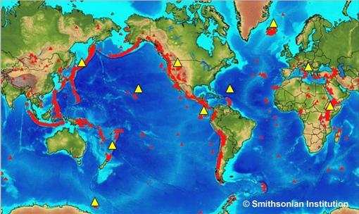 Geological Society  Volcanoes Around The World