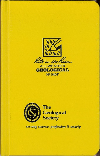 Geological Field book, Side Hard Bound, No. 540F GSL logo