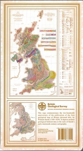 Geological Map of GB back cover