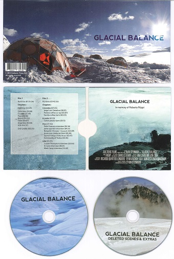Glacial Balance cover and DVDs