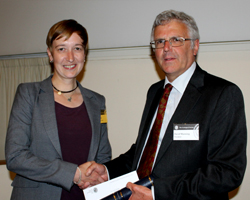 Anja Schmidt receiving William Smith Fund