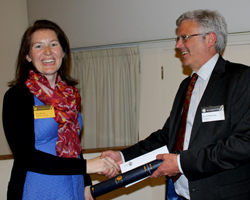 Ann Rowan receiving the President's Award