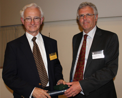 Michael de Freitas receiving the William Smith Medal