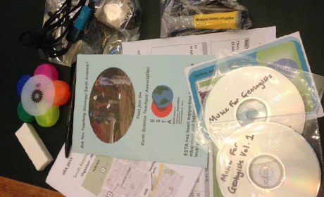 Goodie bag contents and Music for Geologists