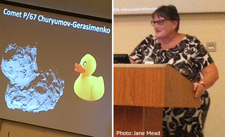 Prof Monica Grady talks about the Rosetta mission, including the challenges of landing on a duck-shaped comet