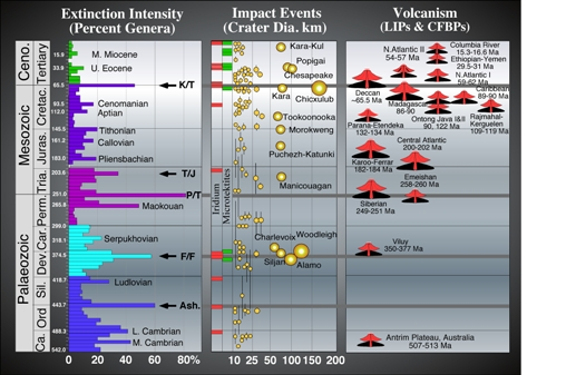 mass extinction events causes and effects At the end of the permian, at the boundary between the paleozoic and mesozoic (2510 04 ma), the largest mass extinction of organisms on the effects and causes authors authors and affiliations sichuan, china record of end-permian double mass extinction events, proc japan.