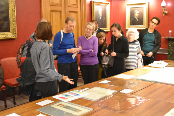 Items on display included William Smith's Geological Map of Bath, 1799, and Tables of Strata
