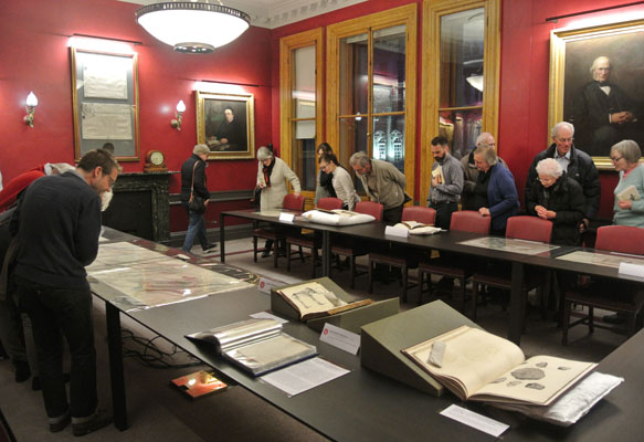 The evening finished with a special display of material from the Society's archive and rare books collection