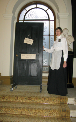 Our housemaid Wendy at the door to The Geologists' House