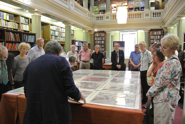 Tom Sharpe discusses Smith's seminal geological map of 1815, with the Society's earliest edition on display
