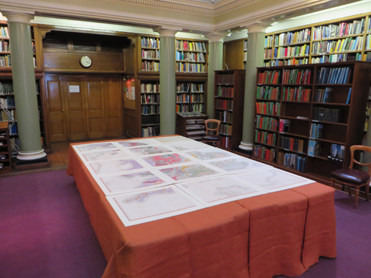 The newly re-discovered first edition William Smith map, on display for the first time on 23 March 2015