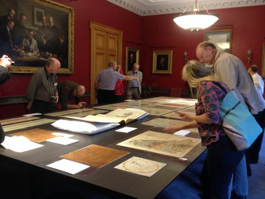 A display of William Smith material from our archives during the William Smith Meeting, 23 April 2015