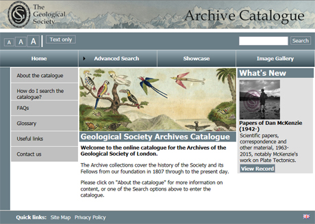 Archive catalogue link