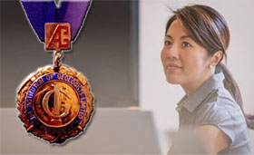 Institute of Geologists Medal with professional woman
