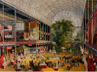 Interior of the Crystal Palace at the 1851 Great Exhibition