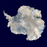 map of antartica with black background