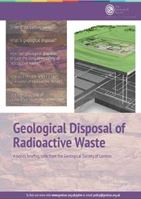 cover page of the geological disposal of radioactive waste briefing note